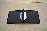 Коричневый зажим для денег с внешними карманами Mr.Falke, фото 5