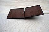Коричневый зажим для денег с внешними карманами Mr.Falke, фото 2