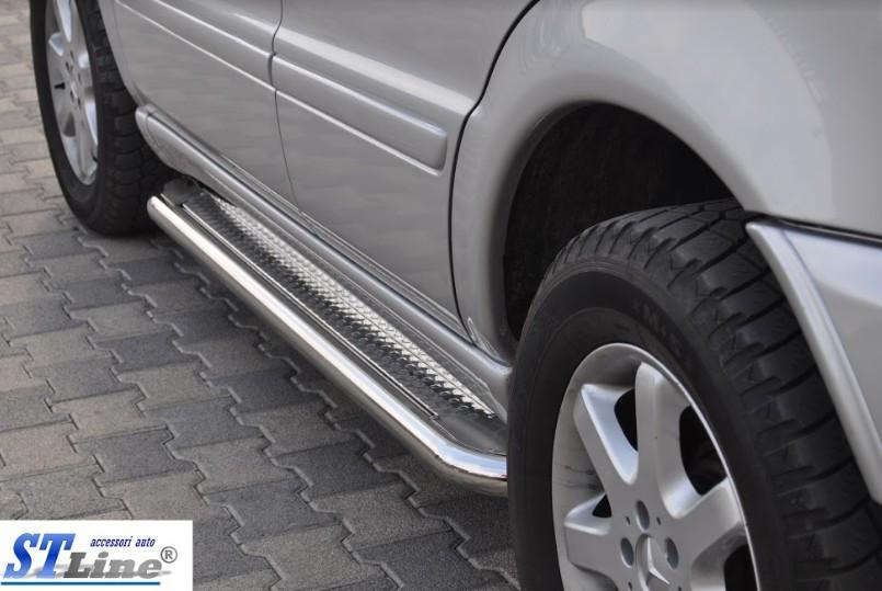 Пороги Mercedes ML 163 / Мерседес МЛ 1997-2005, фото 1