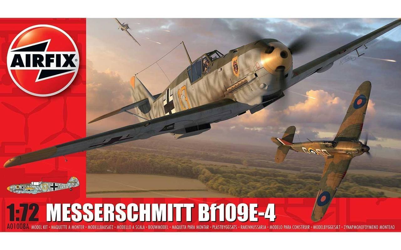 Messerschmitt Bf109E-4. Сборная модель немецкого самолета. 1/72 AIRFIX 01008A