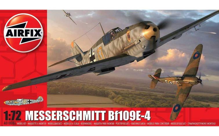 Messerschmitt Bf109E-4. Збірна модель німецького літака. 1/72 AIRFIX 01008A, фото 2
