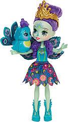 Энчантималс Пэттер Пикок и маленький павлин Флэп Enchantimals Patter Peacock and Flap peacock