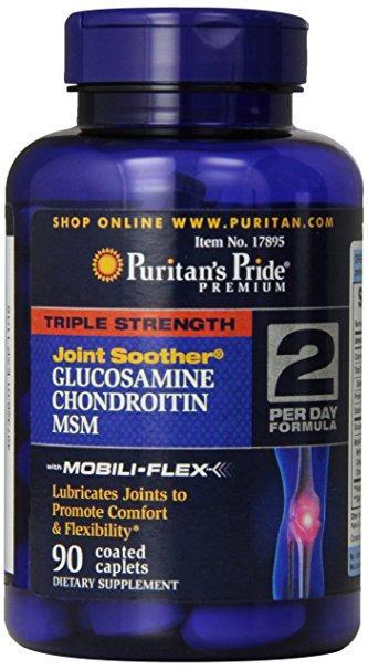 Puritan's Pride Triple Strength Glucosamine Chondroitin and MSM (90 таб.)