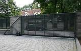 Відкатні ворота жалюзі з ламелей 4500х2000, фото 2