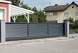 Відкатні ворота жалюзі з ламелей 4500х2000, фото 10