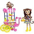 Игровой набор Энчантималс Фруктовая тележка Enchantimals Fruit Cart Fruit Cart & Monkey, фото 3