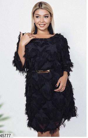 Новинка! стильное вечернее черное платье размеры: 42-44, 46-48,50-54,56-58, фото 2