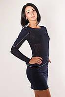 SEWEL Платье PS623  (L, темно-синий, 70% полиэстер/ 30% вискоза)