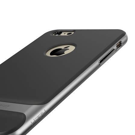 """Чохол-накладка ROCK для iPhone 7 (4.7"""") Royce ser. TPU+PC Чорний/сірий, фото 2"""