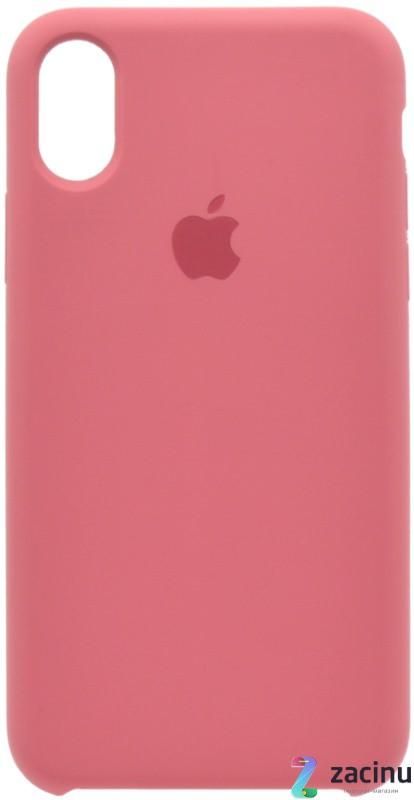 "Чохол-накладка для iPhone X (5.8"") Silicon Case ser. (veri high copi) Рожевий(Wine)"