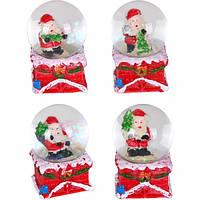 Шар метель «Дед Мороз, Снеговик» 40 мм