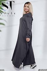 Хит сезона! платье в пол с капюшоном демисезонное! размер 50-56, фото 3
