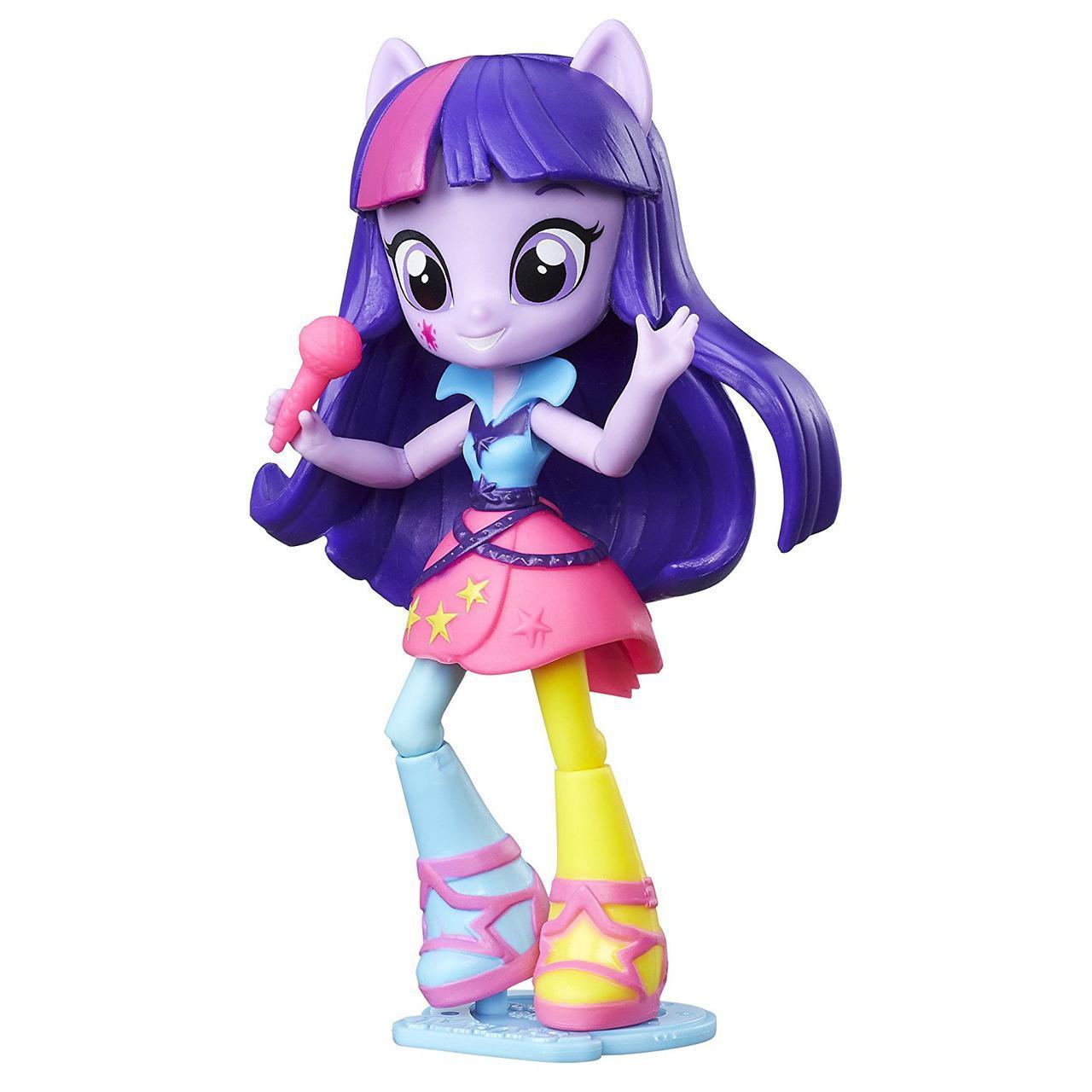Май литл пони Эквестрии Твайлайт Спаркл с микрофоном Радужный рок Equestria Girls Minis Twilight Sparkle