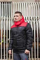 "Курточка мужская Jacket Spring/Autumn ""Euro"" весенняя/осенняя утепленная, цвет красно-черный"