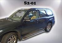 Пороги Subaru Forester SH / Субару Форестер 2002-2007, фото 1