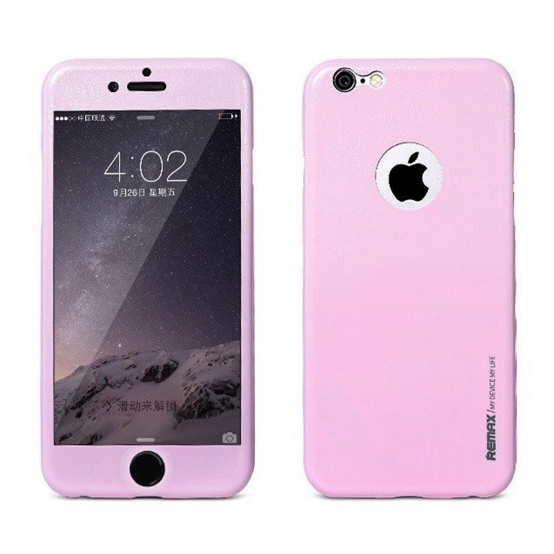 Чехол 360 ° Remax для iPhone 6 / 6S Skin ser. Pink (217458)
