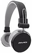Навушники Awei A700Bl Fashion & Sport Bluetooth + AUX Чорний/Сірий