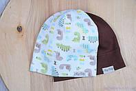 Набор трикотажных шапок, Дино, 3 размера, 42-54 см, фото 1