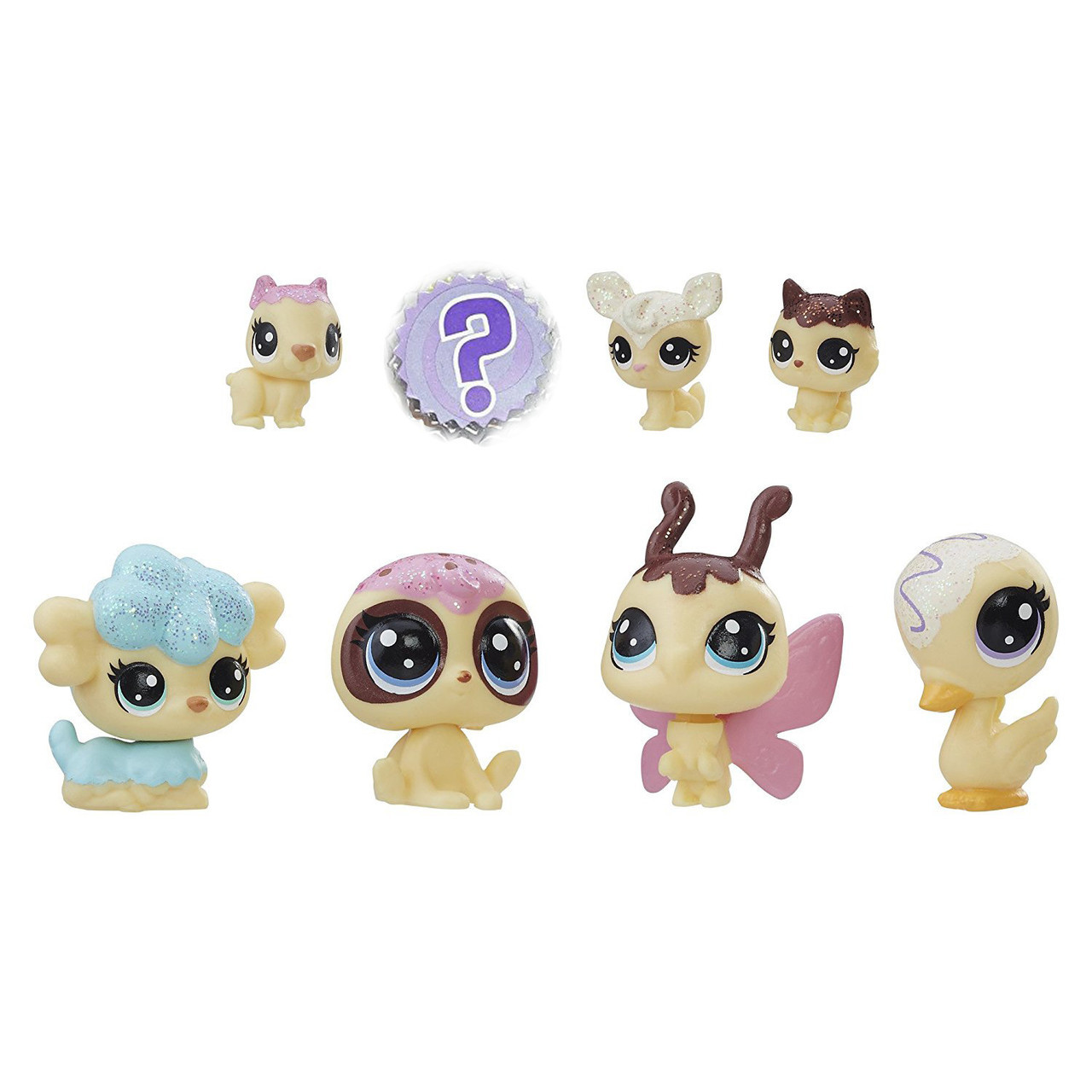 Лител пет шоп набор из 8 ми зверюшек серия 2 Друзья Littlest Pet Shop Black & White Pet Friends