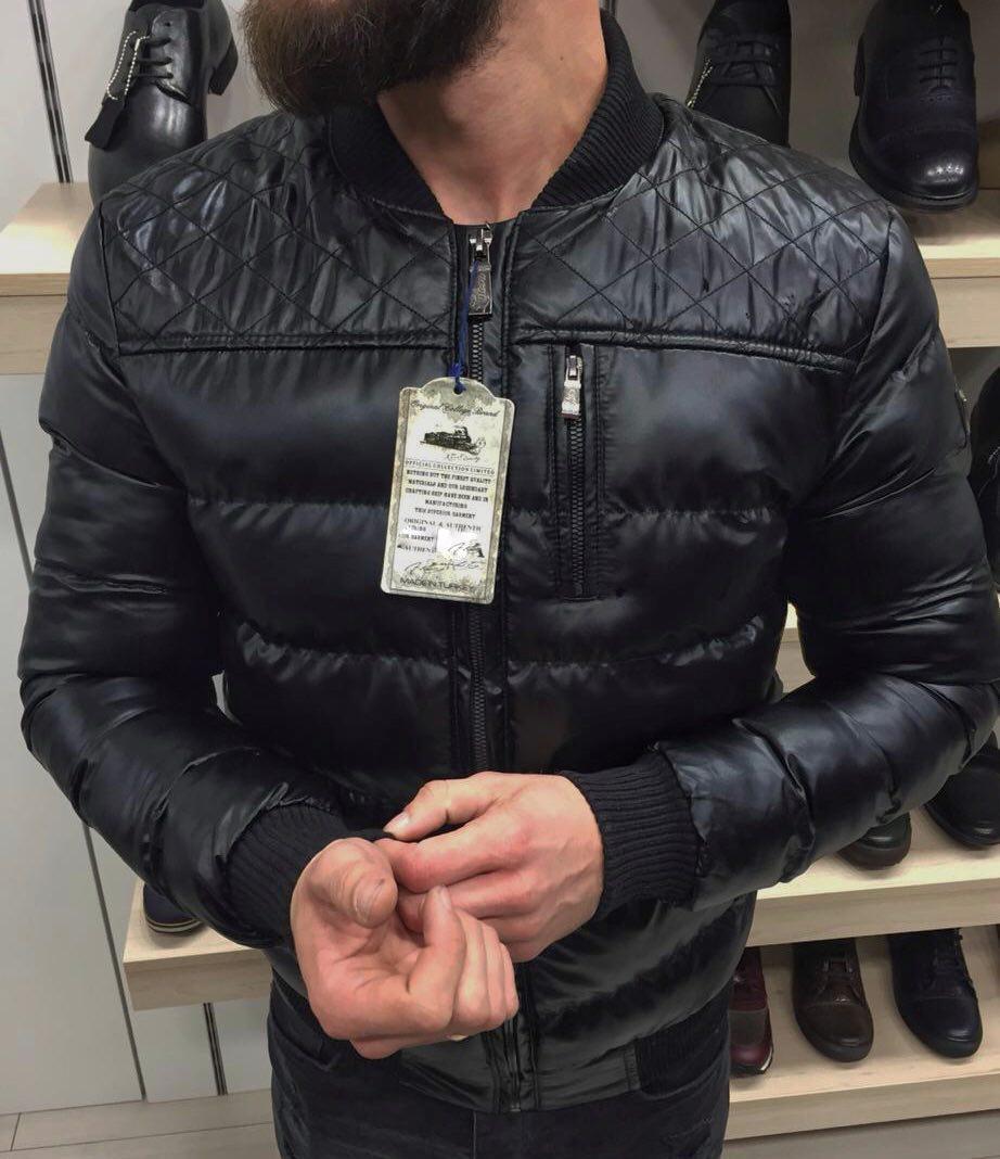 Осенняя куртка мужская без капюшона коричневая