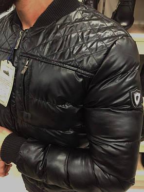 Осенняя куртка мужская без капюшона коричневая, фото 2