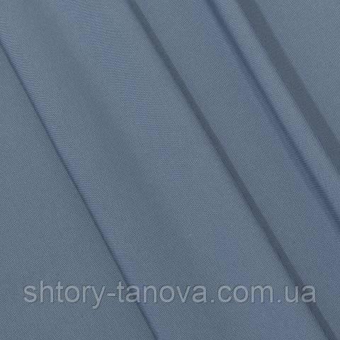 Габардин, однотонный серо-голубой