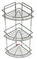 Полка для ванной 3х – ярусная, угловая 58 х 22 х 22см