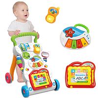 Детский игровой центр, музыкальная каталка, ходунки Huanger