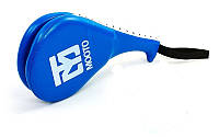 Ракетка для тхэквондо двойная WTF MOOTO BO-4511 (синий)
