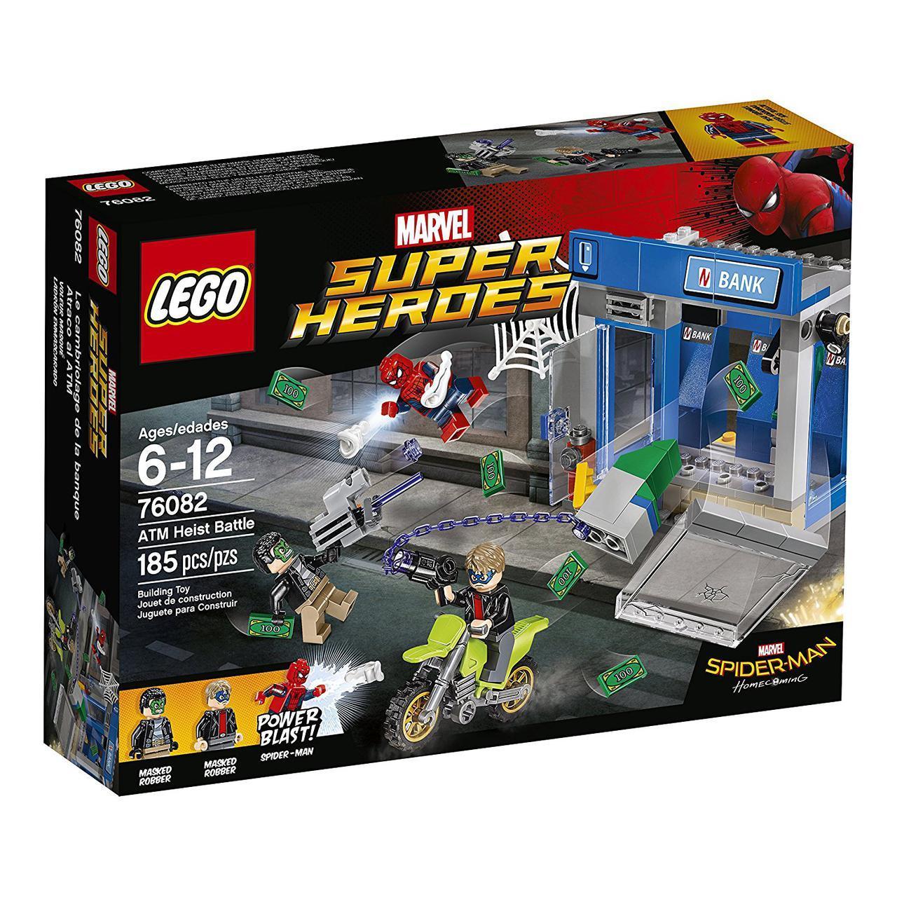 Лего Оригинал Super Heroes Ограбление банкомата ATM Heist Battle 76082 185 деталей
