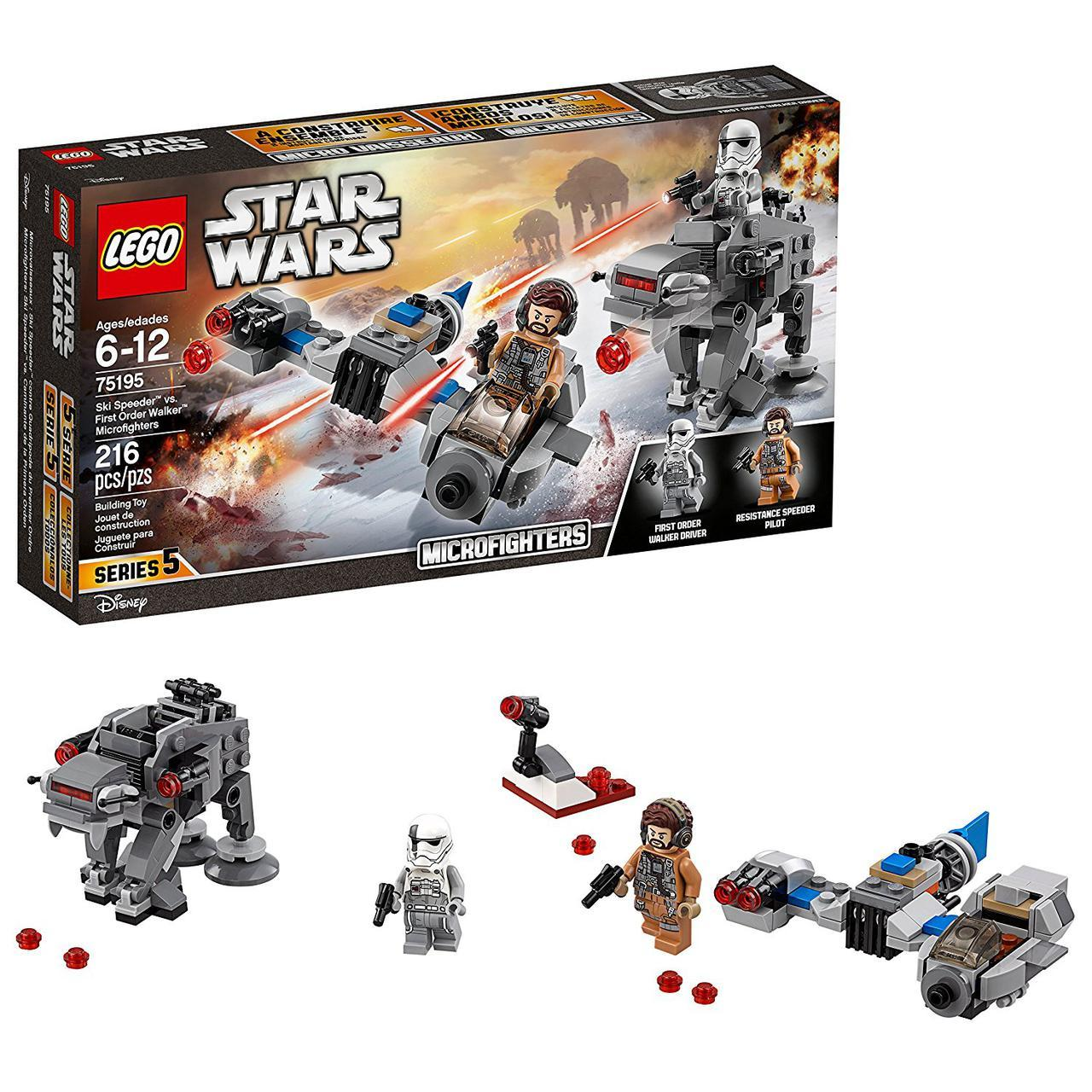 Лего LEGO StarWars Лыжный Спидер против шагохода Первого Ордена Ski Speeder vs. First Order Walker 75195