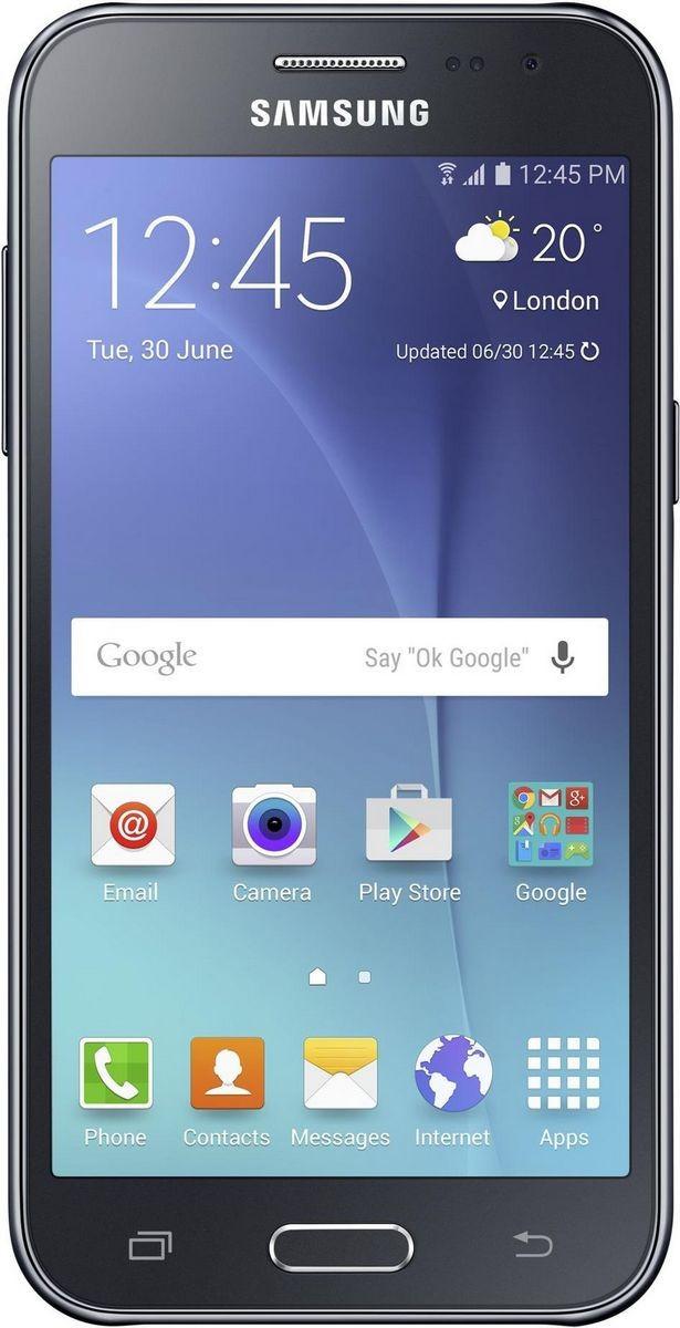 Смартфон SAMSUNG SM-J200H ZKD (black)