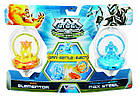 Набор Волчков Max Steel Turbo Battlers Fire Elementor vs. Transformation Max Steel, фото 2