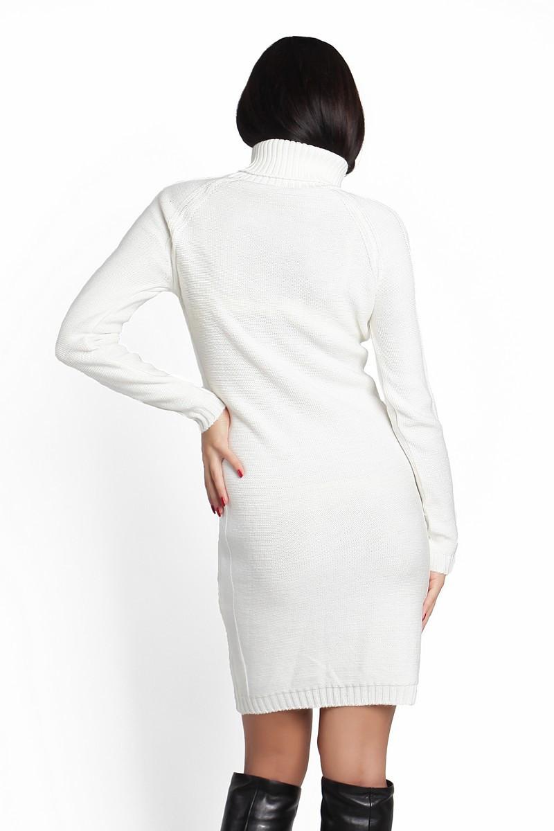 SEWEL Платье PW211 (44-46-48, белый , 60% акрил/ 30% шерсть/ 10% эластан)