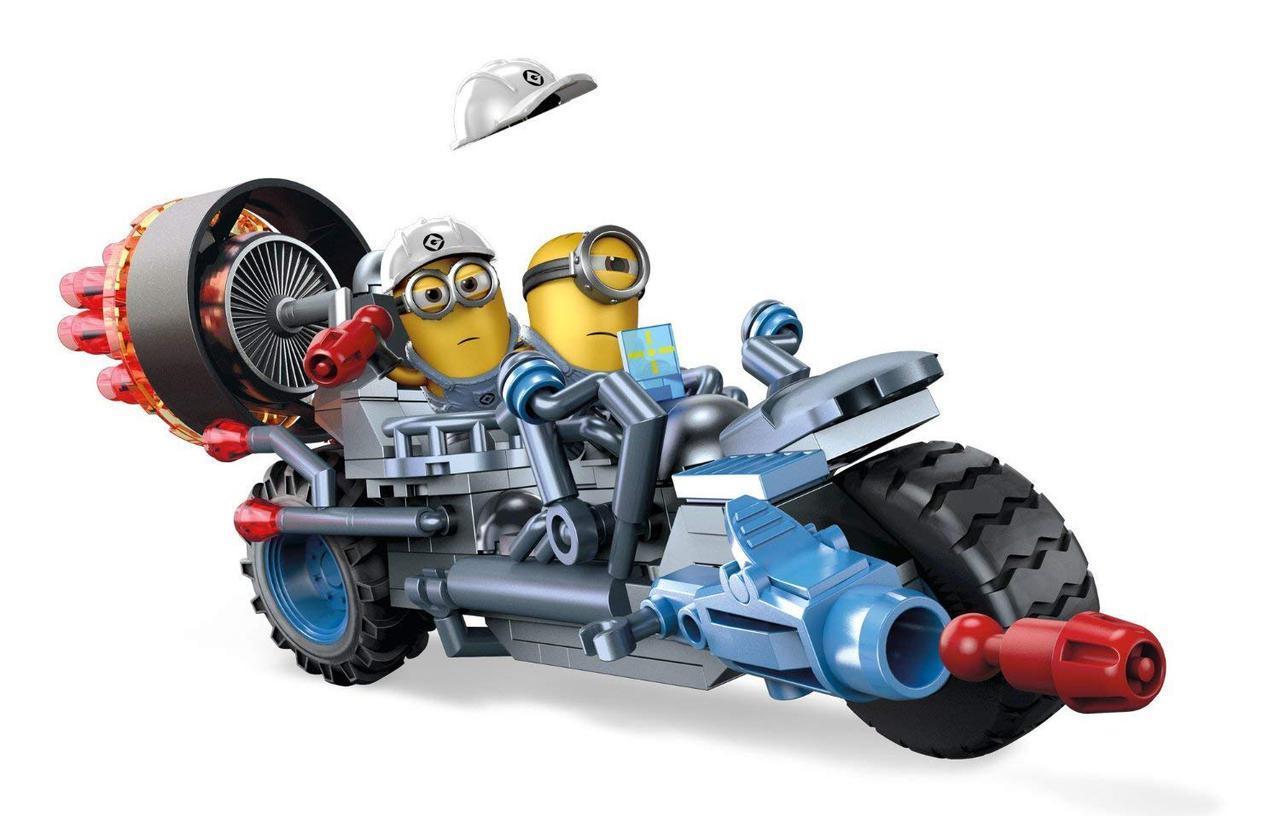 Конструктор Мега Блокс Миньоны Мотоцикл Погрома Mega Bloks Despicable Me Motorcycle Mayhem 160 деталей