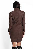 SEWEL Платье PW211 (44-46-48, коричневый, 60% акрил/ 30% шерсть/ 10% эластан), фото 1