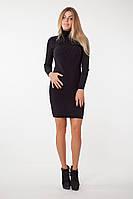 SEWEL Платье PW211 (44-46-48, черный, 60% акрил/ 30% шерсть/ 10% эластан), фото 1