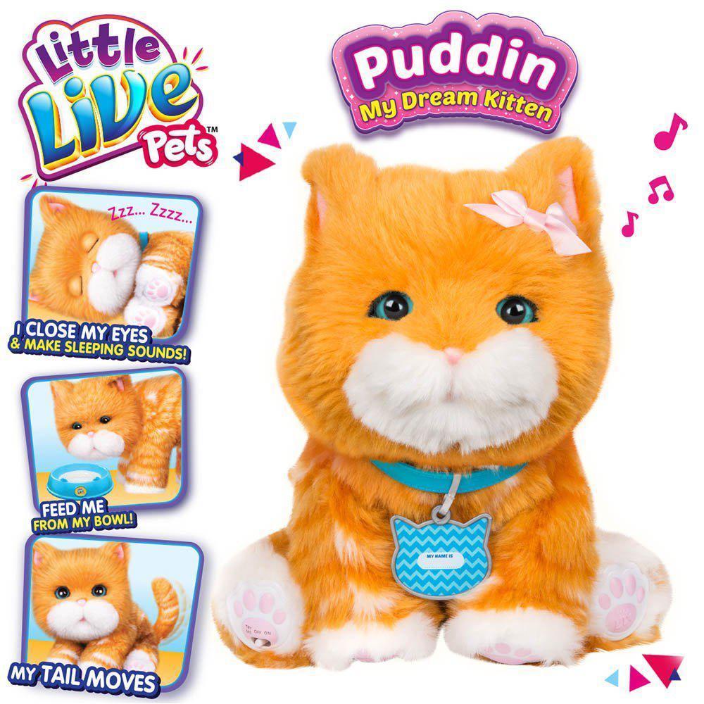 Интерактивная игрушка Котенок моей мечты Падин Little Live Pets Puddin My Dream Kitten Moose