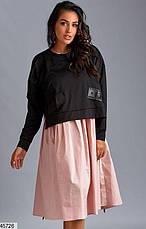 Новинка! необычное стильное платье двойка больших размеров:50-52,54-56, 58,60,62, фото 3
