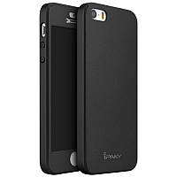 Чохол-360° iPaky для iPhone 5/5S/SE +скло Чорний