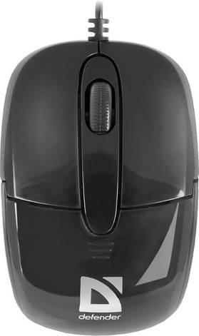 Мышка Defender Optimum MS-130 USB Черный, фото 2