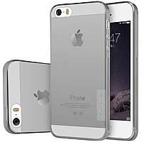 Чохол-накладка Nillkin для iPhone 5/5S/SE Nature ser. Сірий/прозорий(116931)