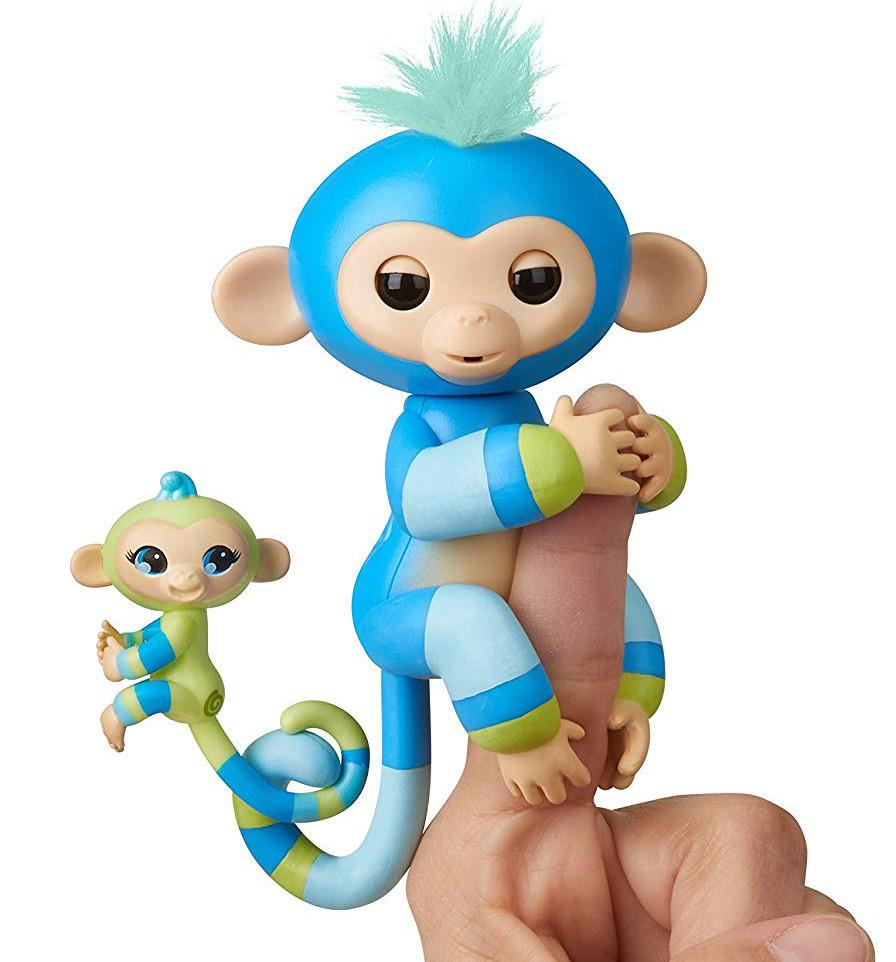 Оригинал интерактивная обезьянка маленькая Аиден и Билли WowWee Fingerlings Monkey Billie & Aiden
