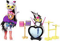 Энчантималс Игровой набор Игра на барабанах Сейдж Скунк и скунс Кэйпер Enchantimals Sage Skunk Doll & Cape