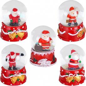 Шар метель «Дед Мороз, Снеговик» 65  мм