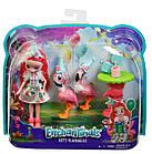 Энчантималс Фэнси Фламинго набор Волшебные Подружки ФЛАМИНГО Enchantimals Let's Flamingle, фото 6