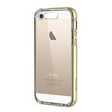 Чехол накладка ROCK для iPhone 5 / 5S / SE Light Tube ser. Золотистый / прозрачный (670107), фото 3