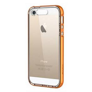Чехол накладка ROCK для iPhone 5 / 5S / SE Light Tube ser. Оранжевый / прозрачный (670084), фото 2