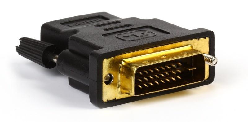 Адаптер HDMI M - DVI F Черный