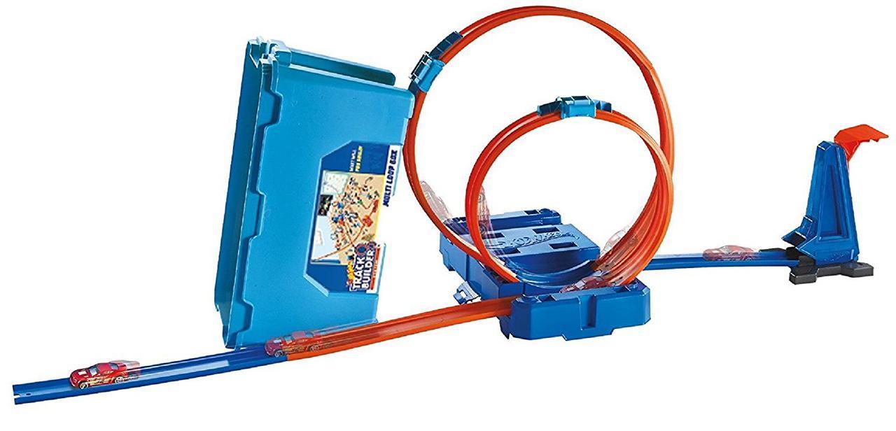 Hot Wheels Track Builder Multi Loop Box Трек Хот Вилс Коробка для трюков Двойная петля